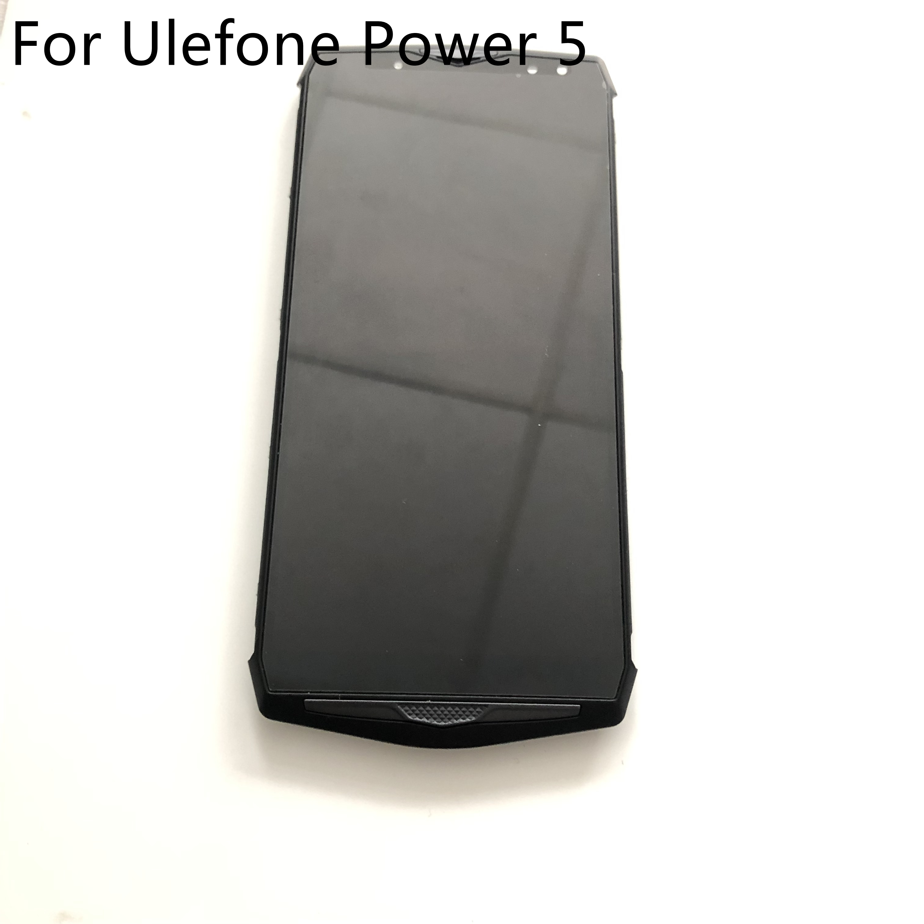 Used LCD Display <font><b>Screen</b></font> + Touch <font><b>Screen</b></font> + Frame For <font><b>Ulefone</b></font> <font><b>Power</b></font> <font><b>5</b></font> MTK6763 Octa Core 6.0