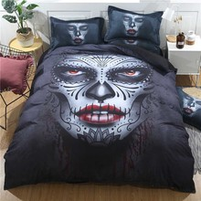 Skull Floral King Queen Bedding Set Luxury 3D Printed Black Rock Punk Duvet Cover Set 3Pcs Home Textiles Comforter Bedclothes