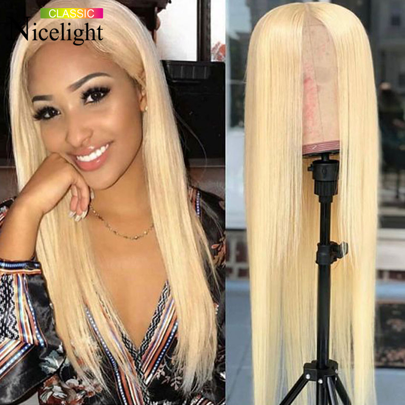 Nicelight Hair Straight 613 Wig Blonde Human Hair Wig Brazilian Remy Hair Lace Wig 150% Density 13X4/4x4 Lace Front Wig
