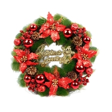 Plastic Christmas Wreath 30cm New Year Hanging Garland Wall Door  Decoration for Home PGM