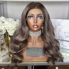 Human-Hair-Wigs Ash-Blonde Lace-Frontal Transparent Women 13x6 European with for Black
