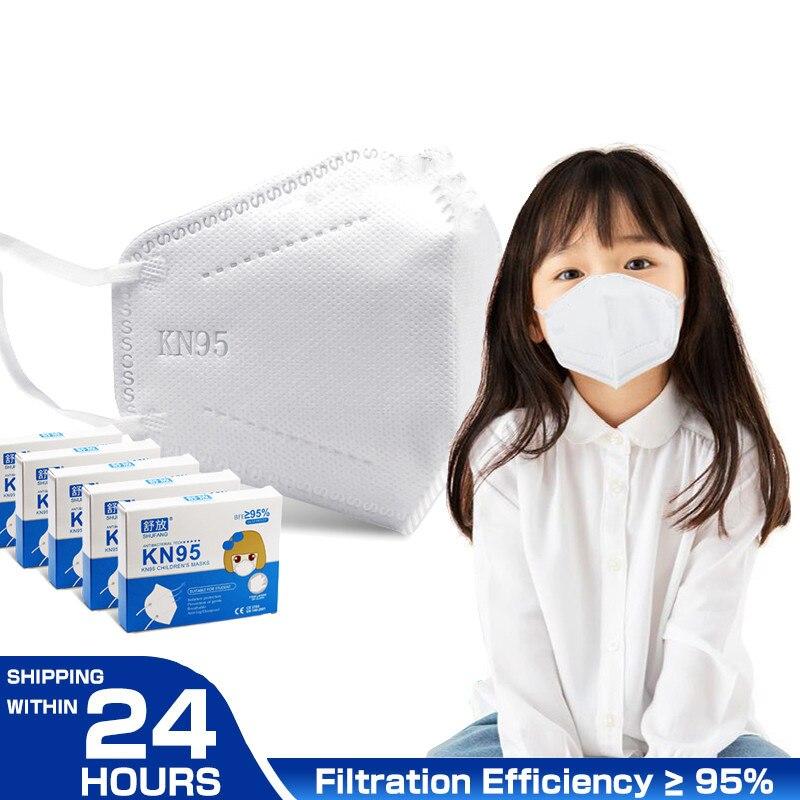 Маска KN95 для детей и студентов, маска CE FFP2, защитная маска для лица для мальчиков и девочек, маски, 24 часа