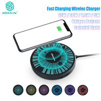 NILLKIN 15W LED Qi Fast Wireless Charger for iPhone 11 XS Max Xr for Note 10 10+ S10 S9 for Xiaomi 9 for Huawei Colorful Light