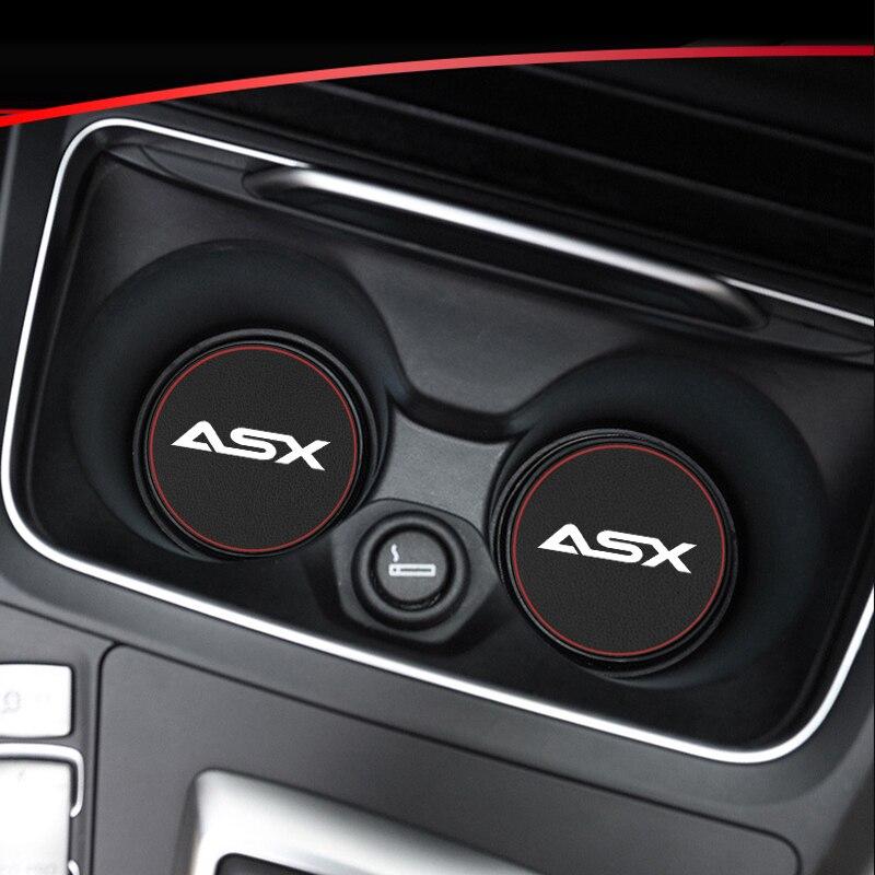 1pcs Car Interior Mats Water Coaster Leather Pad For Mitsubishi Asx Lancer Outlander Pajero L200 Galant Car Anti-dirty Pad