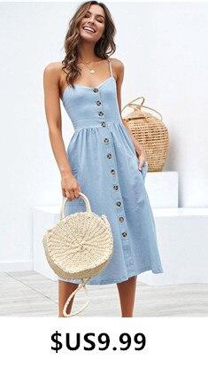 Sexy-Strap-Bohemian-Floral-Tunic-Beach-Dress-Sundress-2019-Summer-Women-Pocket-Button-Striped-Dress-Robe_副本