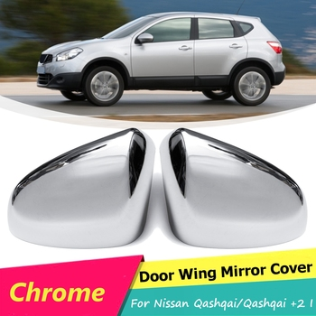 For Nissan Qashqai J10 2007 2008 2009 2010 2011 2012 2013 Pair Chromed Side Wing Door Rearview Mirror Cover Trim Car Accessories