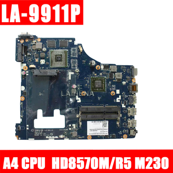 G405 LA-9911P  For Lenovo G405 Laptop Motherboard LA-9911P Mainboard A4 CPU HD8570M/R5 M230 100% tested fully work