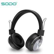 SODO SD-1001 Bluetooth Headphone On-Ear Wired Wireless Headphones Foldable Bluetooth 5 0 Stereo Headset with Mic Support TF Card cheap Balanced Armature CN(Origin) Wireless+Wired 120dBdB 0 3mm For Internet Bar for Video Game Common Headphone For Mobile Phone
