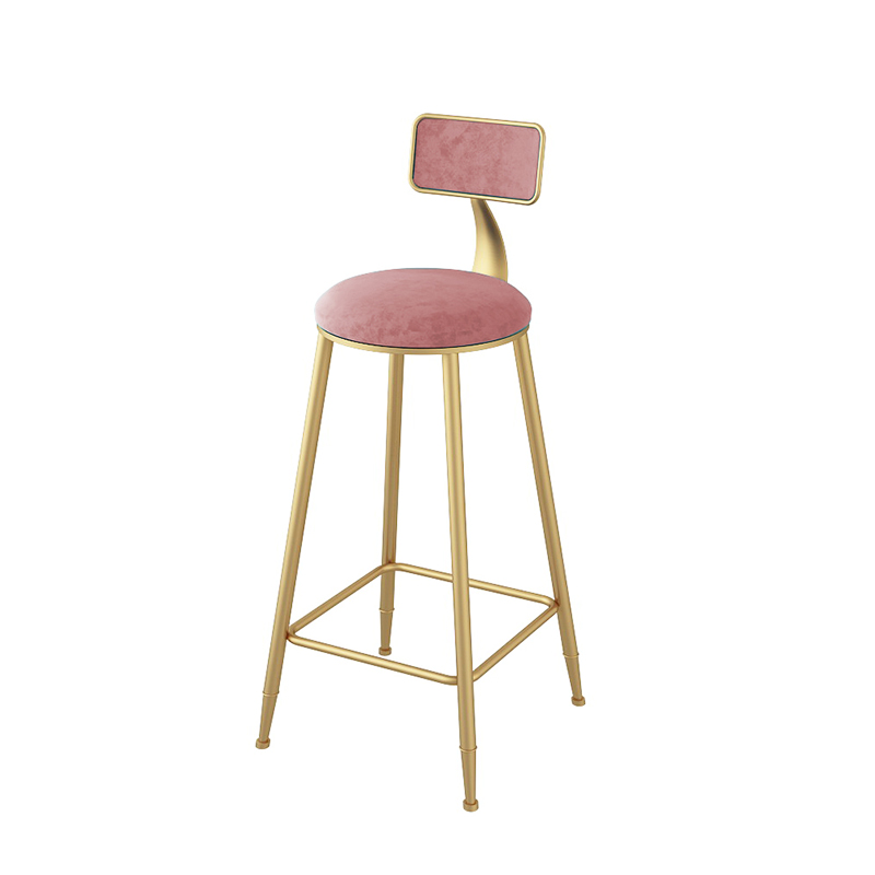 Nordic Bar Chair Iron Art Ins Creative Dining Table Golden Cafe Back Net Red High Stool Simple