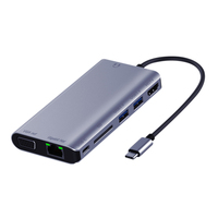 Usbc To Rj45 Lan 4K Hdmi Vga 2Usb 3.0 Sd Card Slot Reader 8 in 1 Type C Dock Adapter Hub for Macbook for Samsung Huawei Dex Mode