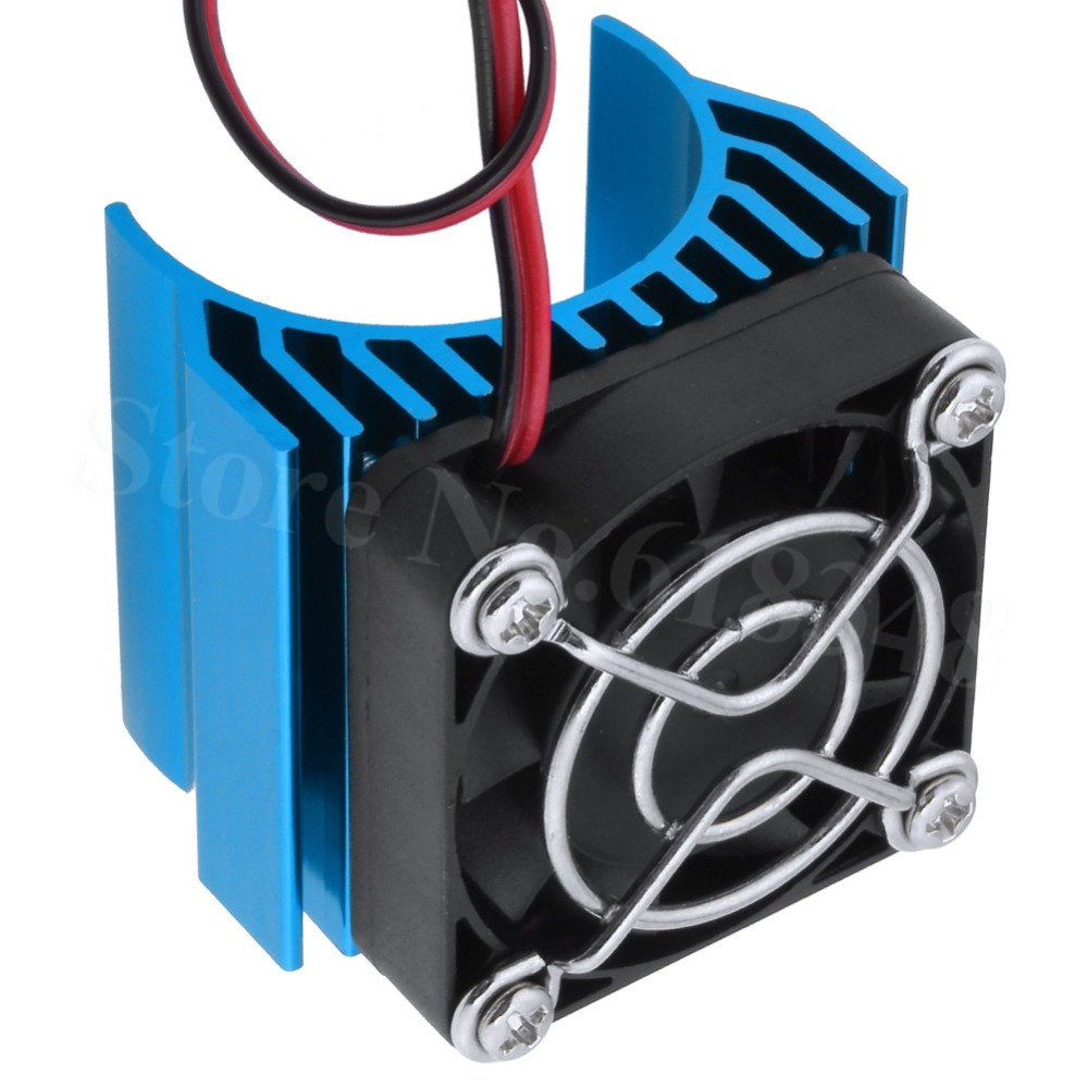 Metal 540//550 Brushless Motor Heatsink Part with Cooling Fan for 1//10 HSP RC Car
