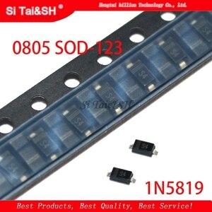 100pcs SMD diode 0805 SOD-123 1N5819 1N4007 1N4148 SOD123 SOD-323 1206 1N4148WS 1N5819WS B5819WS SOD323(China)