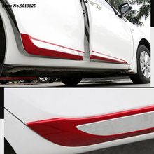 цена на Car Body Side Door trim Strip Molding Stream panel bumper hoods moulding For Toyota Corolla 2015 2016 2017 2018 Car Accessories