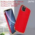 Power Fällen 6000mAh Batterie Lade Fall Für iPhone 11 Pro Max Ladegerät Fall Für iPhone 11 Pro Die Neue power Bank Batterie Abdeckung