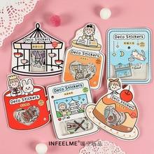 40 шт/1 лот Kawaii канцелярские наклейки серии good day дневник декоративные наклейки для мобильных телефонов Скрапбукинг DIY наклейки для рукоделия