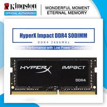 Original kingston hyperx impacto 8gb 16gb ddr4 2666mhz portátil ram memória cl15 sodimm 1.2v 260-pino notebook memória interna 32g