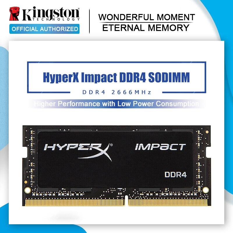 Orijinal Kingston HyperX darbe 8GB 16GB DDR4 2666MHz dizüstü ram bellek CL15 SODIMM 1.2V 260-Pin dizüstü dahili bellek