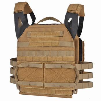 Tactical Vest Jumpable Plate Carrier JPC 2.0 Lightweight Body Armor Combat Hunting Molle Accessories Zip-on Panel Package Pouch
