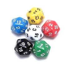 6 шт многогранные кубики D20 кубики смешанные цвета Горячая продажа акриловые Ktv забавные игральные кости настольная игра