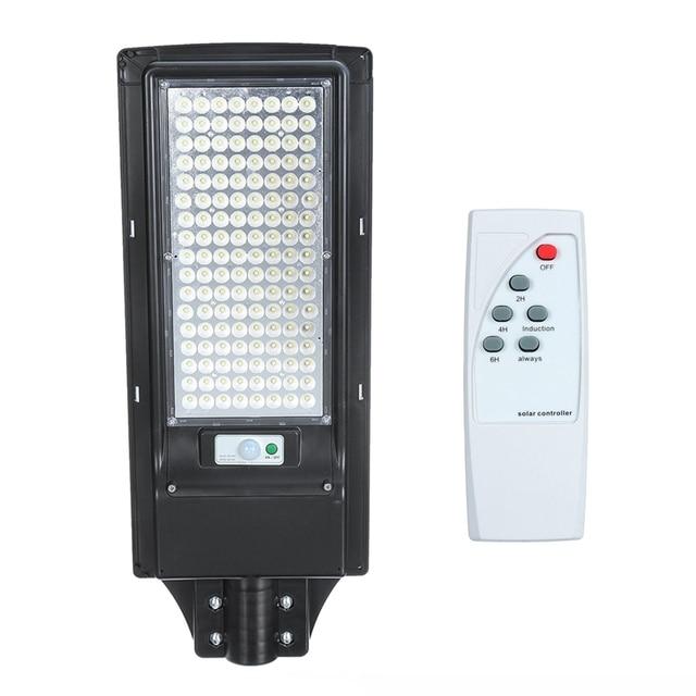 100W/200W LED Outdoor Lighting Wall Lamp Solar Street Light IP67 Solar Powered Remote Radar Motion Light Control for Garden Yard 4