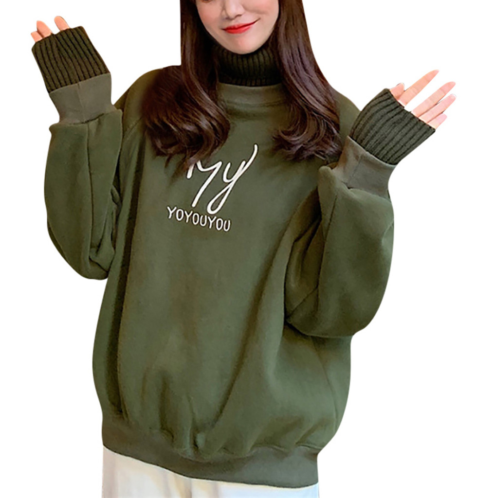 Autumn Women's Sweatershirt Pullover Tops O Neck Casual Letter Printed Long Sleeve Harajuku Oversized Hoodie Woman Clothes thumbnail