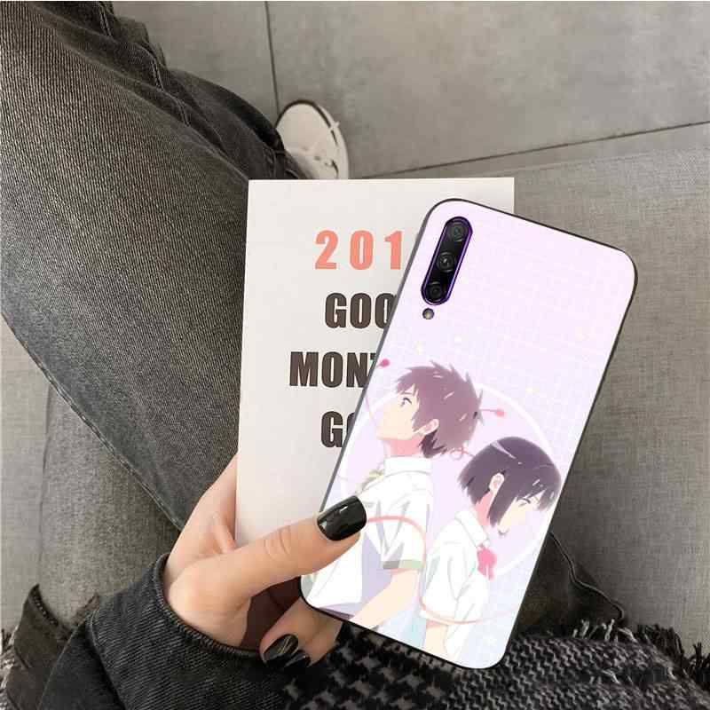 Kiminonawa Your Name Japanese anime  Pattern TPU Soft Phone Case for huawei Y7pro y9 2018 y6 Y7 prime Y6pro 7a case
