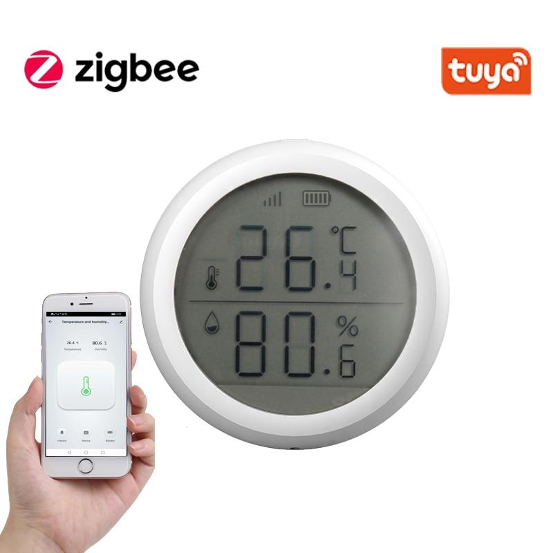 Tuya ZigBee Smart Home, Casa Intelligente Temperatura E Sensore di Umidità Con SCHERMO A LED Funziona Con Amazon Google Assistente Casa