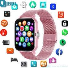 Full Touch Smartwatch 1,7 zoll DIY Zifferblatt Frauen Männer Fitness Tracker Sport Uhr für IOS Andriod Schlaf Monitor Smart Uhren stunden