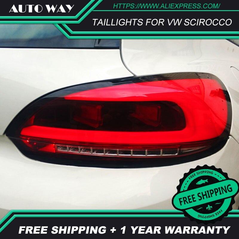 Auto Styling Achterlichten Case Voor Vw Scirocco Achterlichten Scirocco Achterlicht Led Achterlicht Drl Mistlampen Kofferbak Lamp cover - 3