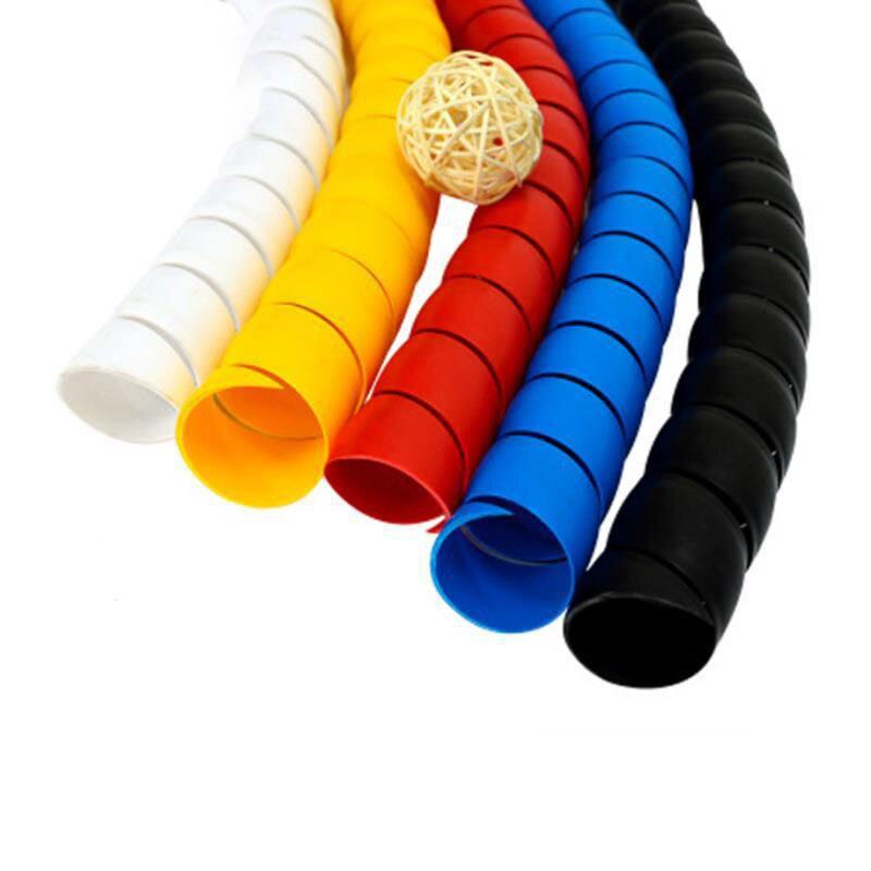 2 метра 8 мм линия Органайзер защитная трубка спиральная оболочка для троса защитная трубка для троса
