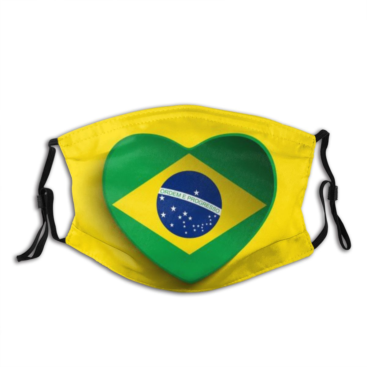 Protective Mask With Filter Brazil Flag (3) Anti Dust PM2.5 Reuse Adult Teen Child Girl
