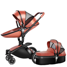 Luxury foldable Baby Stroller 3 in 1 Can Sit Reclining 360° Rotating Shock Abso