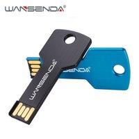 WANSENDA-unidad Flash USB de 64GB, Pen Drive con forma de 32GB, 16GB, 8GB, resistente al agua, memoria USB 2,0, disco U, logotipo personalizado