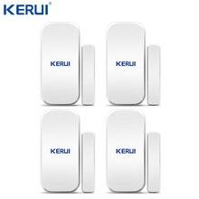 Kerui D025 בית מעורר אלחוטי דלת חלון גלאי מגנטי פער חיישן עבור GSM Wifi אבטחת בית אזעקה מערכת מגע לוח מקשים