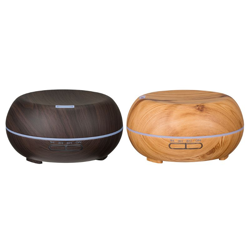 New 300ML Wood Grain Air Humidifier Air Aroma Purifier With 7 Color LED Lights Electric Aromatherapy Essential Oil Aroma|Humidifiers| |  - title=