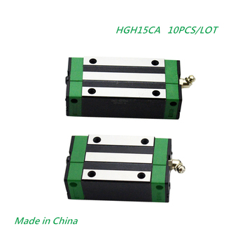10pcs/lot HGH15CA Slider Block Match Use HGR15 15MM Linear Guide Rail CNC DIY Parts