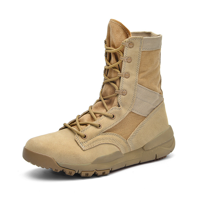 outdoor special forces breathable military boots desert boots hiking shoes men and women British wind tooling boots lovers shoes