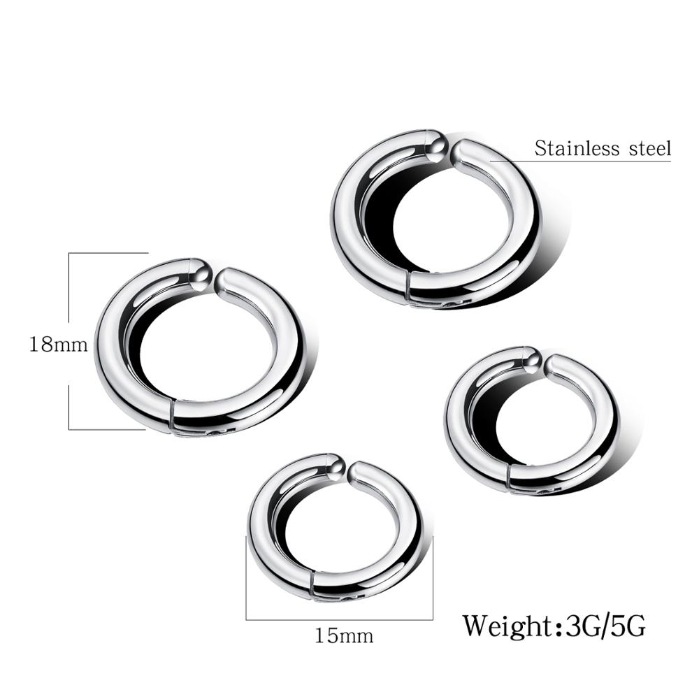 Simple Punk Stainless Steel Round Hoop Earrings For Women Man Party Ear Jewelry Gift Drop Shipping