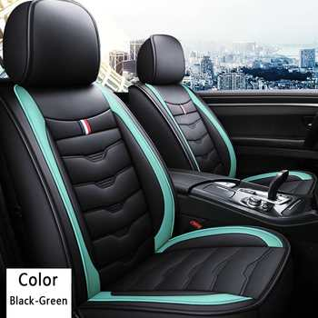 Universal Full Car Front Seat Mat Cover PU Leather Breathable Cushion Pad Set Auto Car Chair Seats Protector Mat Car Accessories
