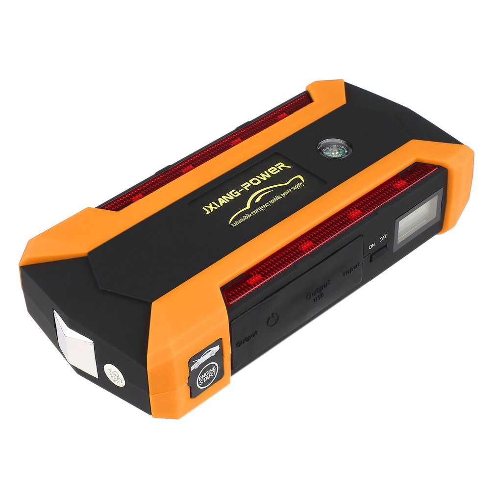 12V 89800mah Portable 4USB Car Jump Starter Power Bank Tool Kit Booster Charger Battery Automobile Emergency LED Light