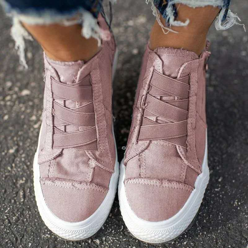 Plus Size Casual Women Shoes 2020 Summer New Elastic Band Women Canvas Shoes Ladies Sneakers  Zapatos Mujer VT1223 (9)