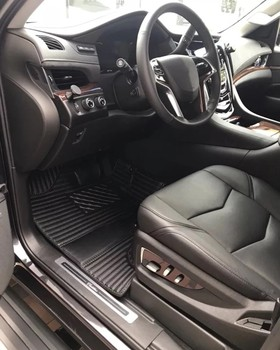 Car floor mats with logo for 3 Row Liner Set Cadillac Escalade XT6 2015 2016 2017 2018 2019 2020 xt5 custom  carpet car pad