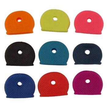 24pcs Key Top Covers Head Caps Keys' ID Tags Markers Random Color #A - discount item  42% OFF Fashion Jewelry