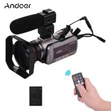 Tragbare 4K 30FPS WiFi Digital Video Kamera Camcorder 64X Digital Zoom IR Nachtsicht mit Batterie Weitwinkel Objektiv mic Haube