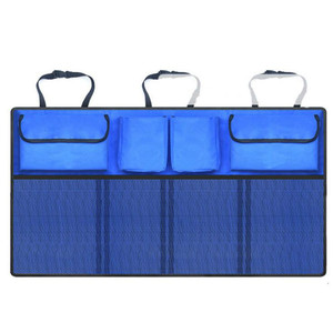 Image 5 - Car Rear Seat Back Storage Bag Multi Hanging Nets Pocket Trunk Bag Organizer Auto Stowing Tidying Interior Accessories Supplies