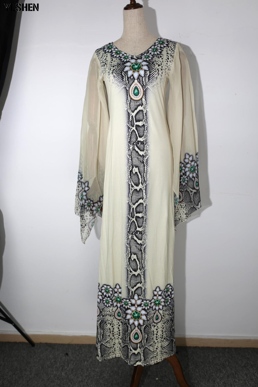 New African Dresses for Women Dashiki Diamond African Clothes Bazin Riche Sexy Slim Ruffle Sleeve Robe Evening Long Africa Dress 09