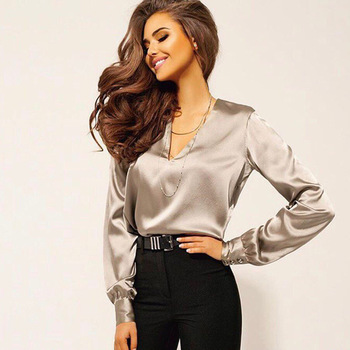 Bonjean Black V Neck Formal Poplin Tops Blouse Shirt Women Transparent Bow Tie Collar Long Sleeve Female Chic preppy style long sleeves shirt collar bow tie design women s blouse