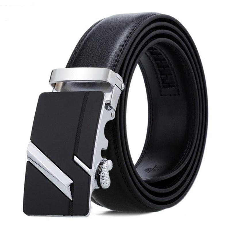 Men Belt Male Belts For Men Strap Quality Genuine Leather Belt Men Automatic Buckle black