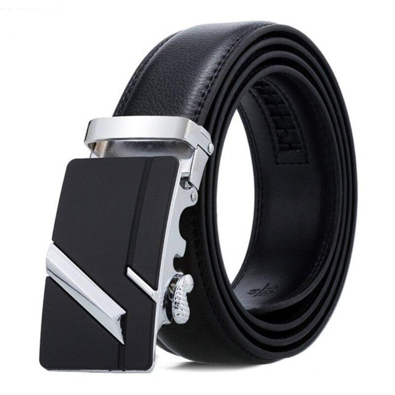 Men Belt Male Belts For Men Strap Quality Genuine Leather Belt Men Automatic Buckle black Belts Cummerbunds cinturon hombre