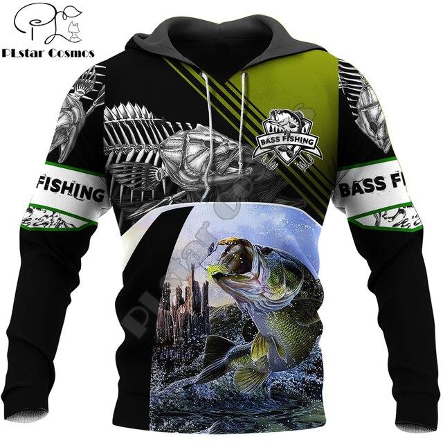 Bass fishing hoodie unisex